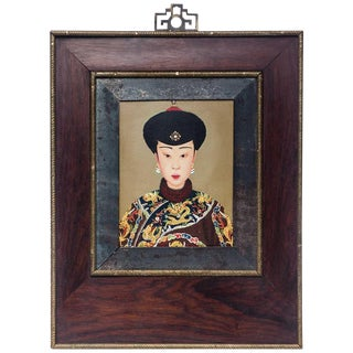 Late 20th Century Mandarin Woman Portrait Painting For Sale