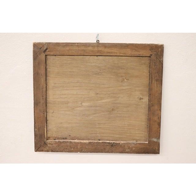 Veneer 19th Century Italian Charles X Inlay Walnut Wall Mirror For Sale - Image 7 of 9