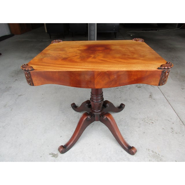 Brown Antique Pedestal Side or Accent Table For Sale - Image 8 of 11