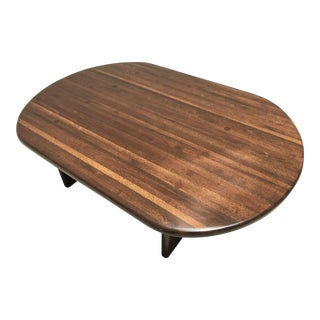 1970s Scandinavian Contemporary Teak Oval Coffee Table For Sale