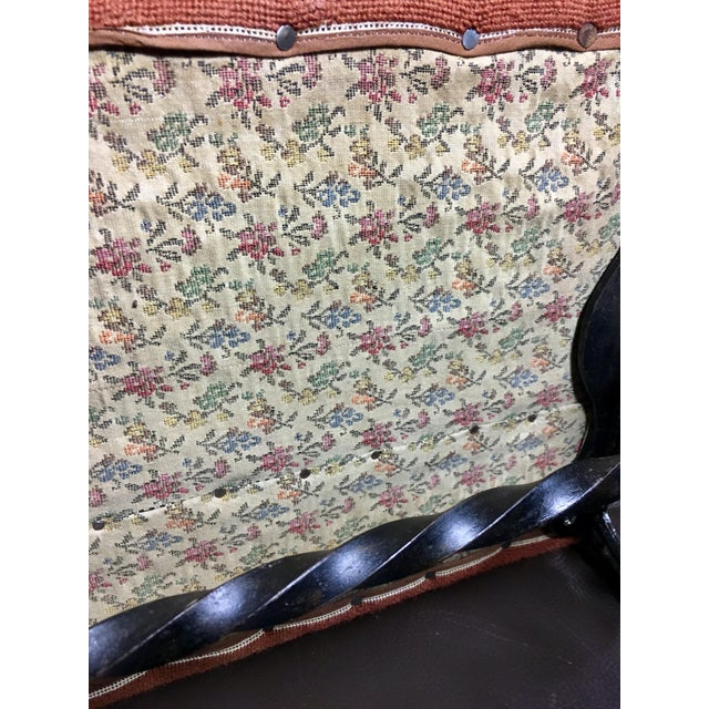 Kingman Needlepoint & Cast Iron Claw Foot Stool For Sale - Image 11 of 11