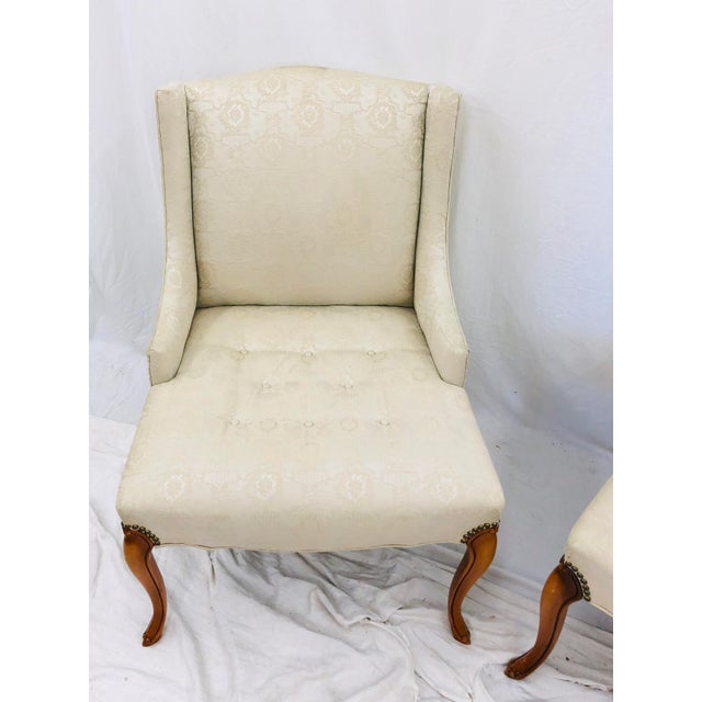Pair Vintage French Style Side Chairs For Sale In Raleigh - Image 6 of 12