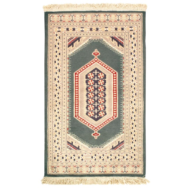 Pasargad Fine Pak Bokhara Hand-Knotted Rug - 2′8″ × 4′4″ For Sale