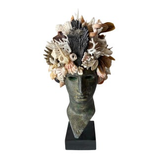 Contemporary Shell Encrusted Head of Nike For Sale