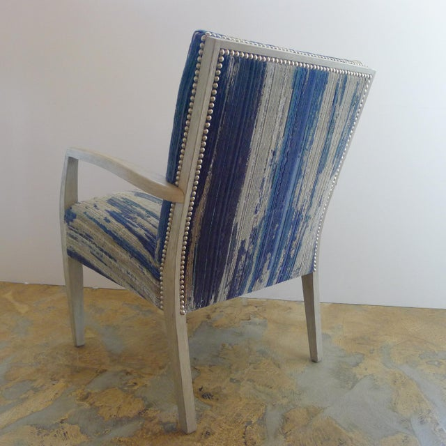 Metal Mid-Century Occasional - Lounge Chair Reimagined For Sale - Image 7 of 8