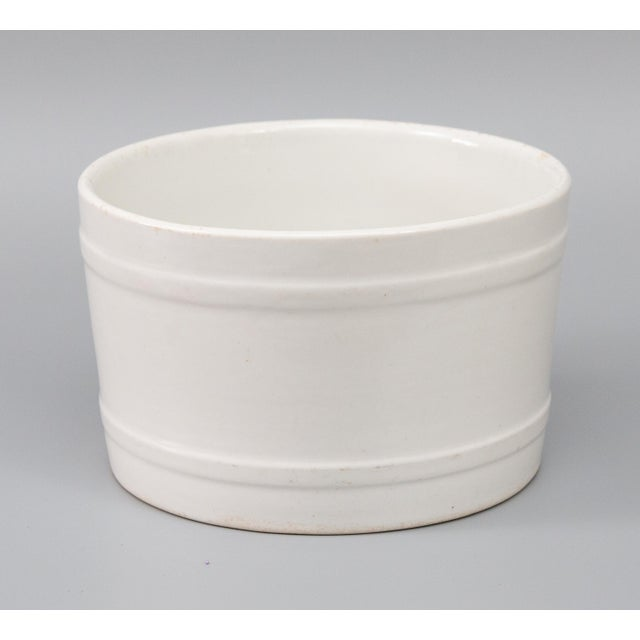 Ceramic 19th Century English White Ironstone Planter For Sale - Image 7 of 7