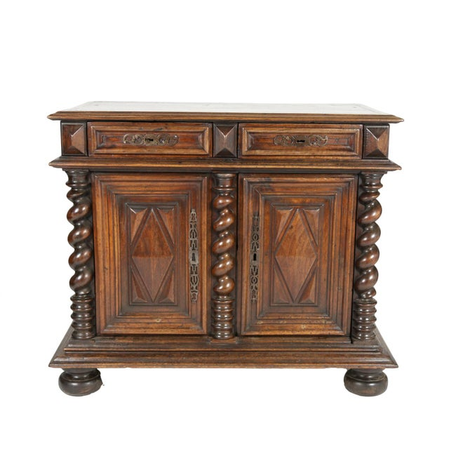 17th Century Late 17th Century French Baroque Period Carved Walnut Buffet For Sale - Image 5 of 5