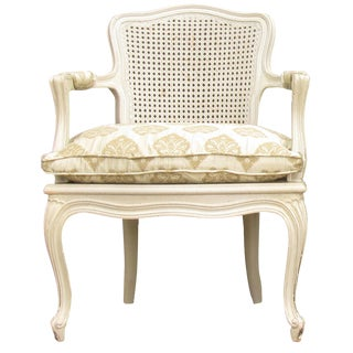 French Caned Bergere For Sale