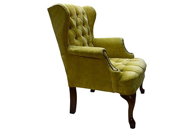 Petite Tufted Wingback Chair   Image 6 Of 7