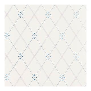 Schumacher Kasumi Diamond Wallpaper in Hyacinth For Sale