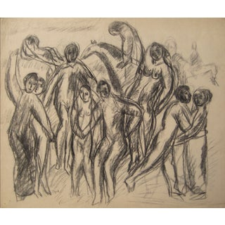 Expressionist Figures, Charcoal Drawing
