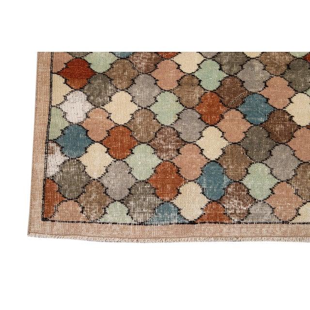 Vintage Turkish Scatter Wool Rug 4 X 8 For Sale - Image 10 of 13