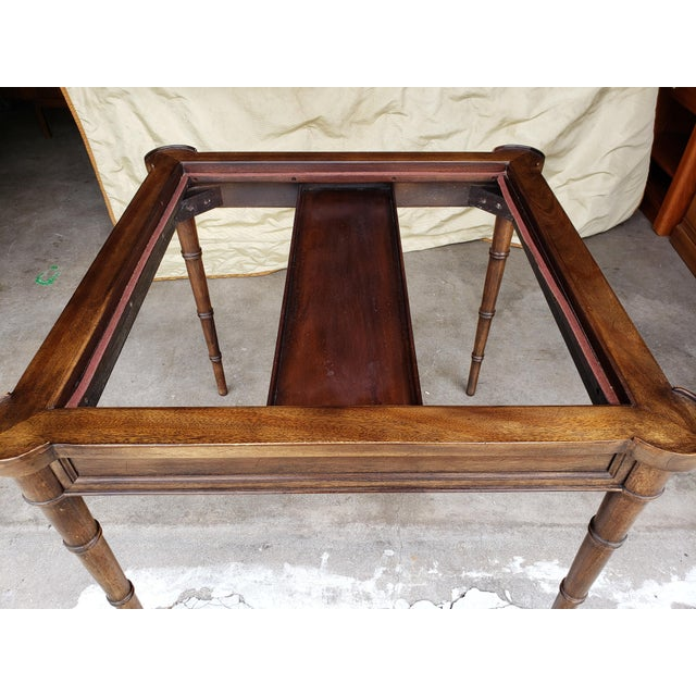 """Animal Skin 1980s Hollywood Regency Drexel """"Et Cetera"""" Game Table Leather Top Game Table For Sale - Image 7 of 11"""
