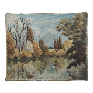 19th Century Impressionist Landscape Painting by E. Raverdy For Sale