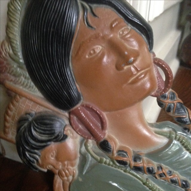 Vintage Metal Native American Wall Plaques - Pair - Image 9 of 11