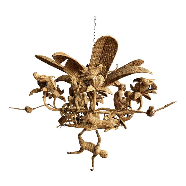 Mario Lopez Torres Palm Tree Chandelier For Sale
