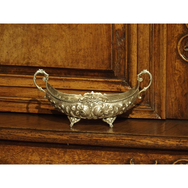 Small Antique Silver Gondola Form Serving Bowl From Germany, Circa 1900 For Sale - Image 13 of 13