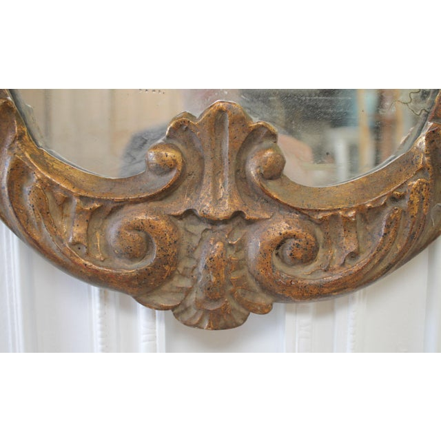 French Country 19th Century Italian Giltwood Mirror For Sale - Image 3 of 7