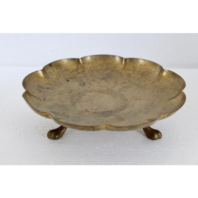 Brass Paw-Foot Scalloped Tray - Image 3 of 5