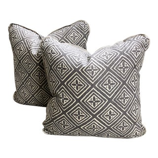 Transitional Quadrille China Seas Designer Made Fiorentina Throw Pillows - a Pair For Sale