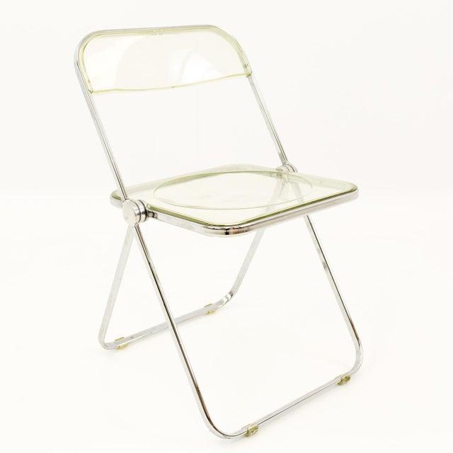 Mid 20th Century Vintage Mid Century Anonima Castelli Italian Lucite Folding Chairs- Set of 6 For Sale - Image 5 of 11