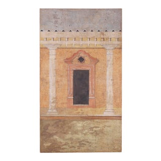 Fresco Style Oil Painting on Burlap by Jacques Lamy For Sale