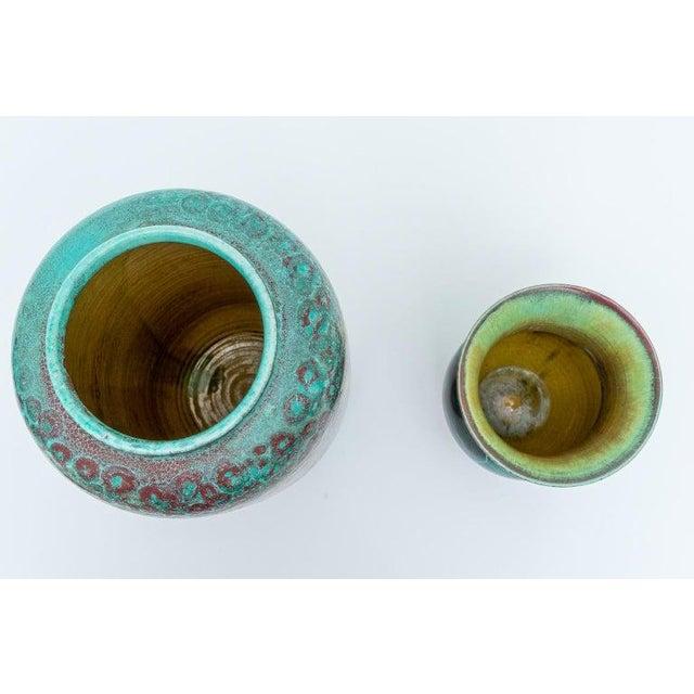 Glazed Pottery Vases by Richard Uhlemeyer, 1940s - Set of 2 For Sale - Image 4 of 13