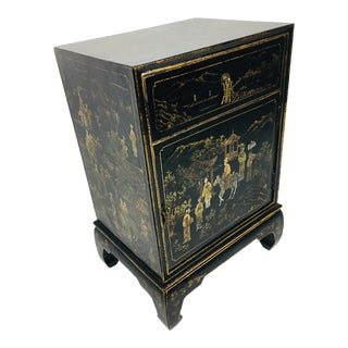 1970s Chinese Hand Painted Cabinet For Sale