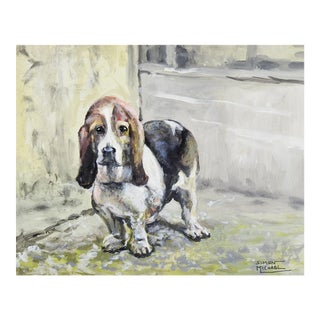 Basset Hound by Simon Michael, 1980s For Sale