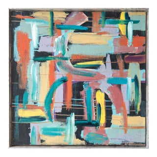 Colorful Mid-Century Abstract Painting