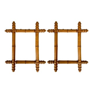 Pair of French Faux Bamboo Mirrors For Sale
