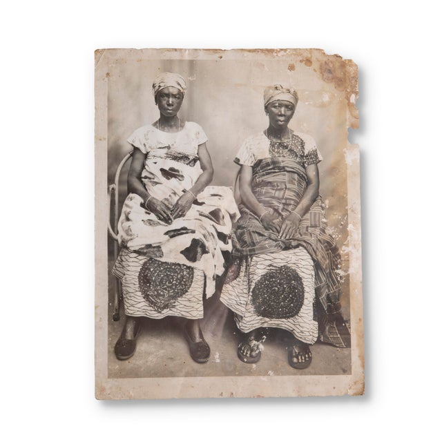 "Portraiture 19th Century Antique ""Untitled"" (Two Women) Gelatin Silver Print For Sale - Image 3 of 3"