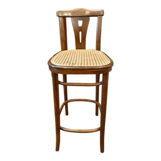 Single Betwood and Cane Barstool