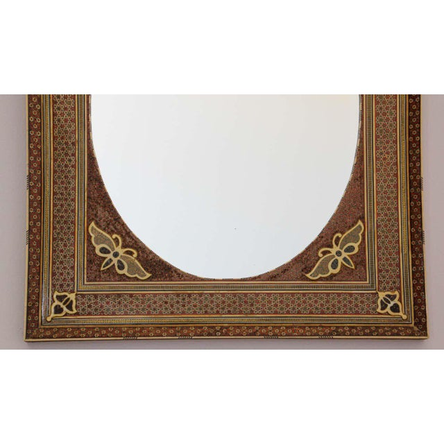 Middle Eastern Moorish-Style Sadeli Mosaic Mirror For Sale - Image 9 of 13