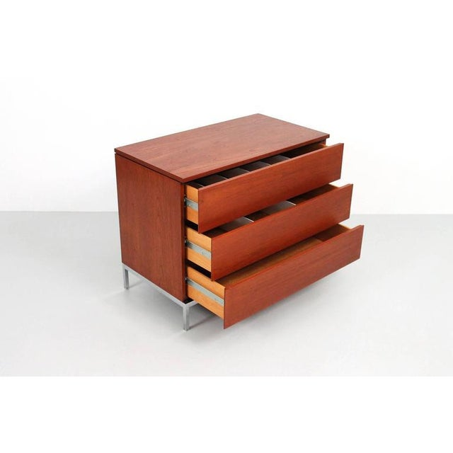 Pair of Teak Dressers by Florence Knoll For Sale - Image 9 of 11