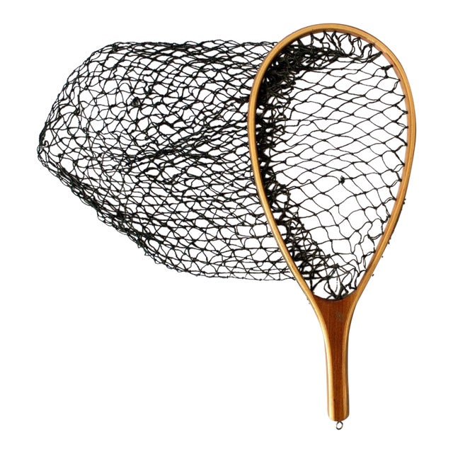 Vintage 1950s Fishing Net For Sale