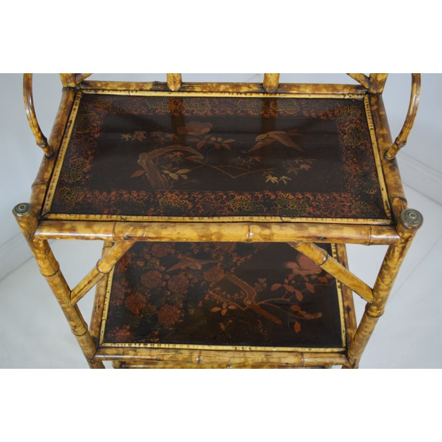 Chinoiserie 19th-Century Bamboo Book Shelf and Magazine Rack For Sale - Image 3 of 8