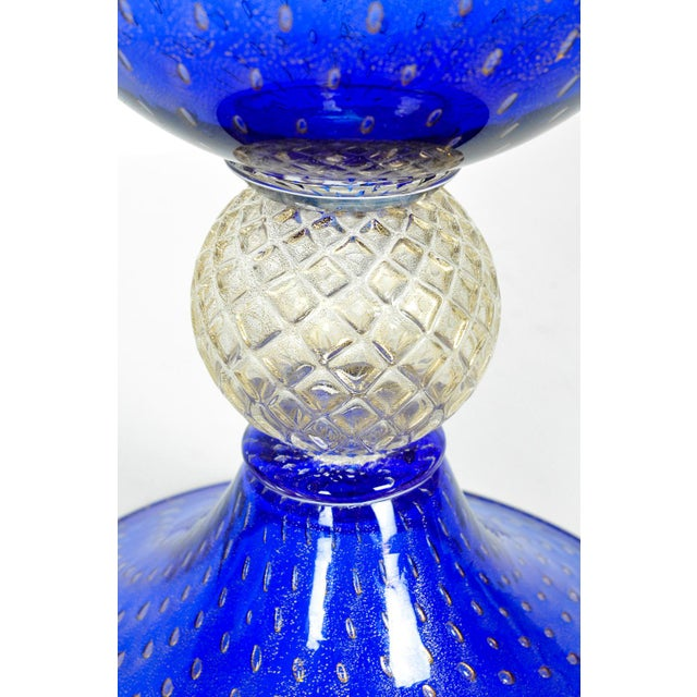 Murano Midcentury Modern Large Scale Cobalt Murano Glass Piece For Sale - Image 4 of 7