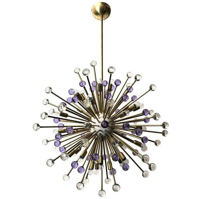 Clear and Purple Burst Sputniks by Fabio Ltd ( 2 Available) For Sale - Image 10 of 10
