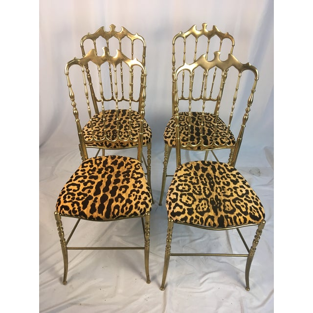 Gold Vintage Italian Chiavari Chairs- Set of 4 For Sale - Image 8 of 8