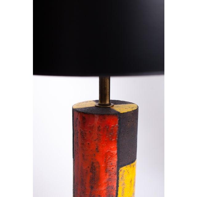 Mid-Century Modern 1950s Mid-Century Modern Aldo Londi for Bitossi Ceramic Lamp For Sale - Image 3 of 4