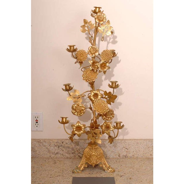 Gilt Bronze Candelabras - a Pair For Sale - Image 9 of 10