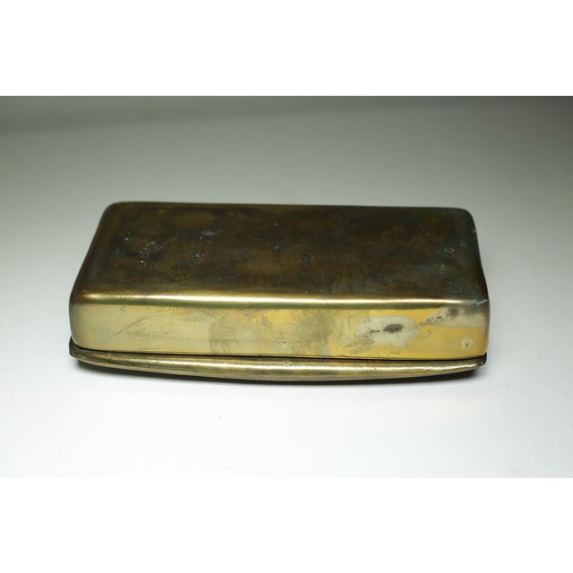 Mid-Century Modern Mid-Century Bronze Ribbed Box C. 1950-1970 For Sale - Image 3 of 6