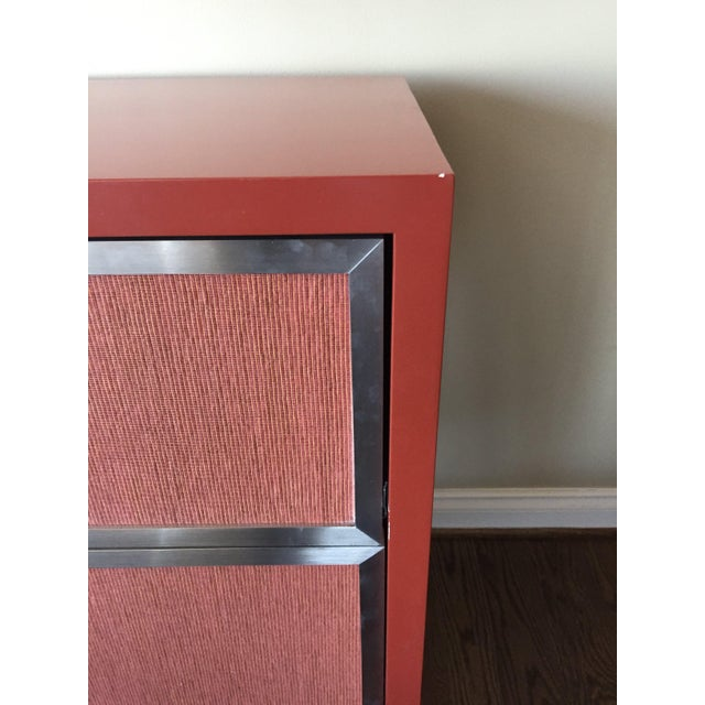 Custom Modern Red Credenza For Sale - Image 5 of 7