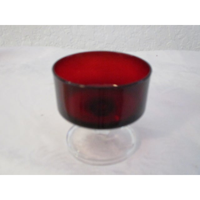 French Ruby Red Crystal Cavalier Coupes - Set of 11 For Sale - Image 4 of 6