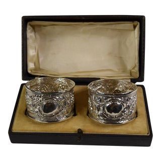 Early 20th Century Sterling Napkin Rings - a Pair For Sale