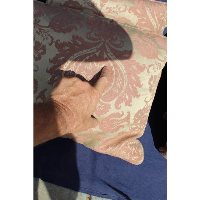 Late 20th Century Late 20 C. Down Filled Pillows - Set of 4 For Sale - Image 5 of 8