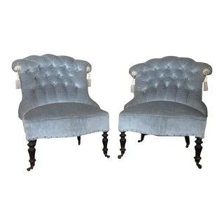 French Pair of Napoleon III Armchairs