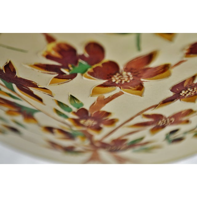 Vintage Floral Cut Out Drum Lampshade For Sale In Philadelphia - Image 6 of 13