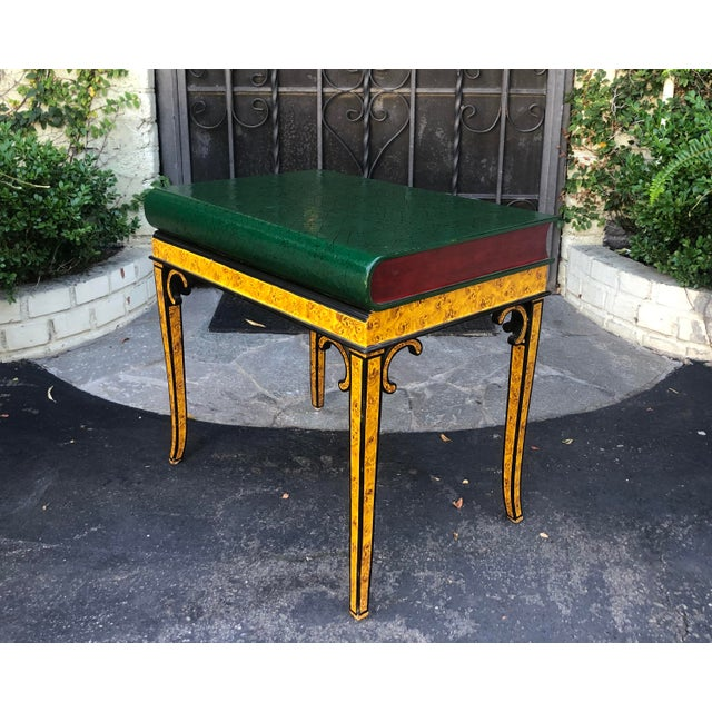 English Traditional Maitland Smith Designer Book Form Side or End Table For Sale - Image 3 of 6